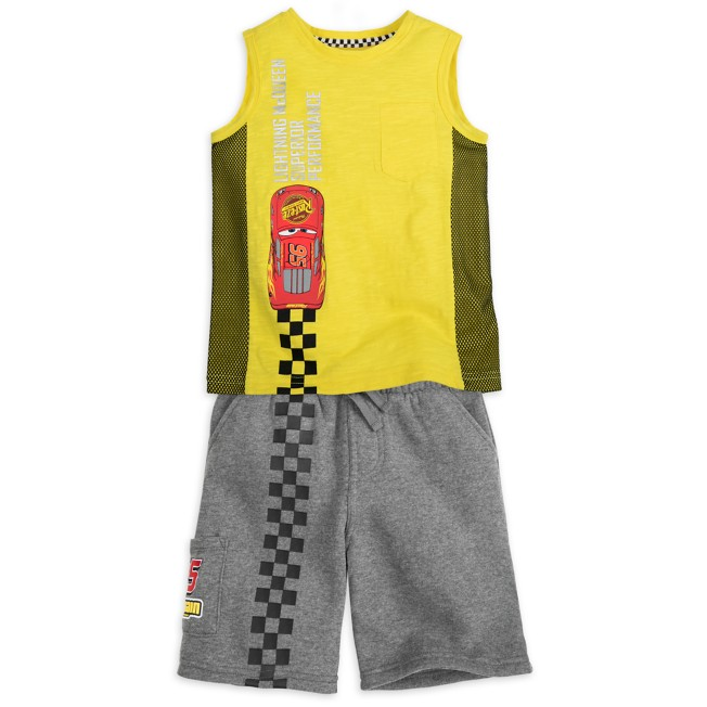 Lightning McQueen Tank Top and Shorts Set for Boys
