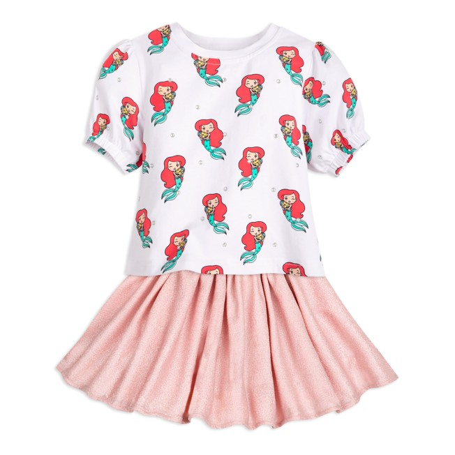 Ariel Top and Skirt Set for Girls