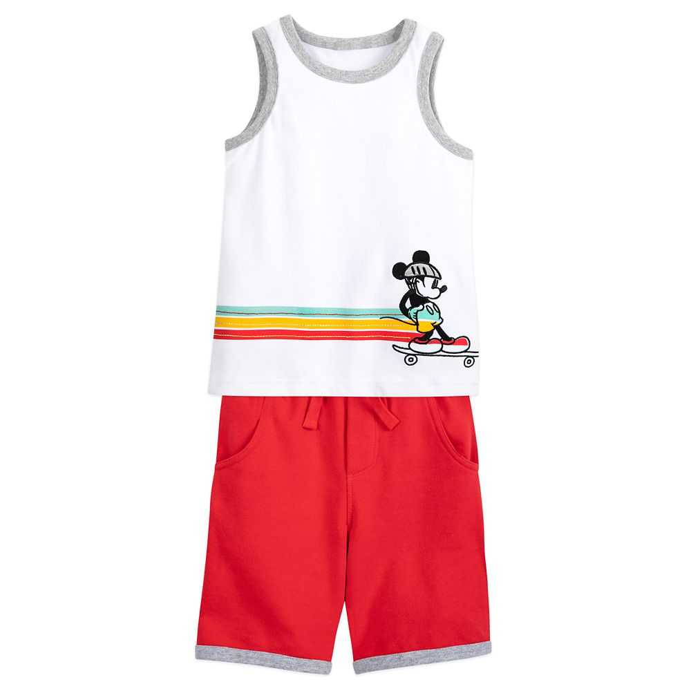 Mickey Mouse Tank Top and Shorts Set for Boys