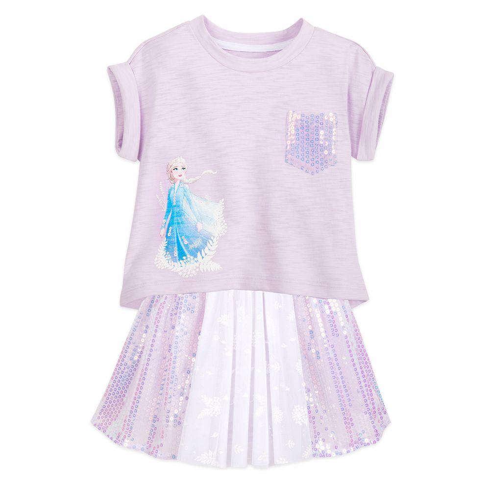 Elsa Shirt and Skirt Set for Girls