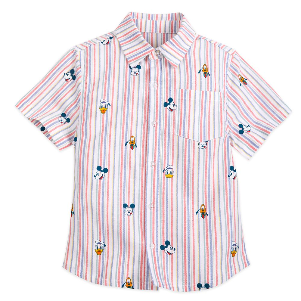 Mickey Mouse and Friends Summer Fun Woven Shirt for Boys