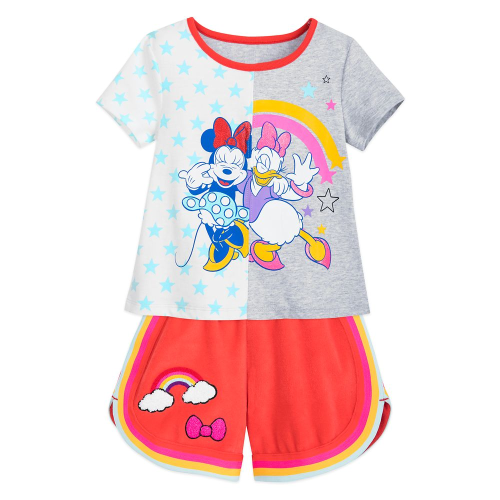 Minnie Mouse and Daisy Duck T-Shirt and Shorts Set for Toddlers