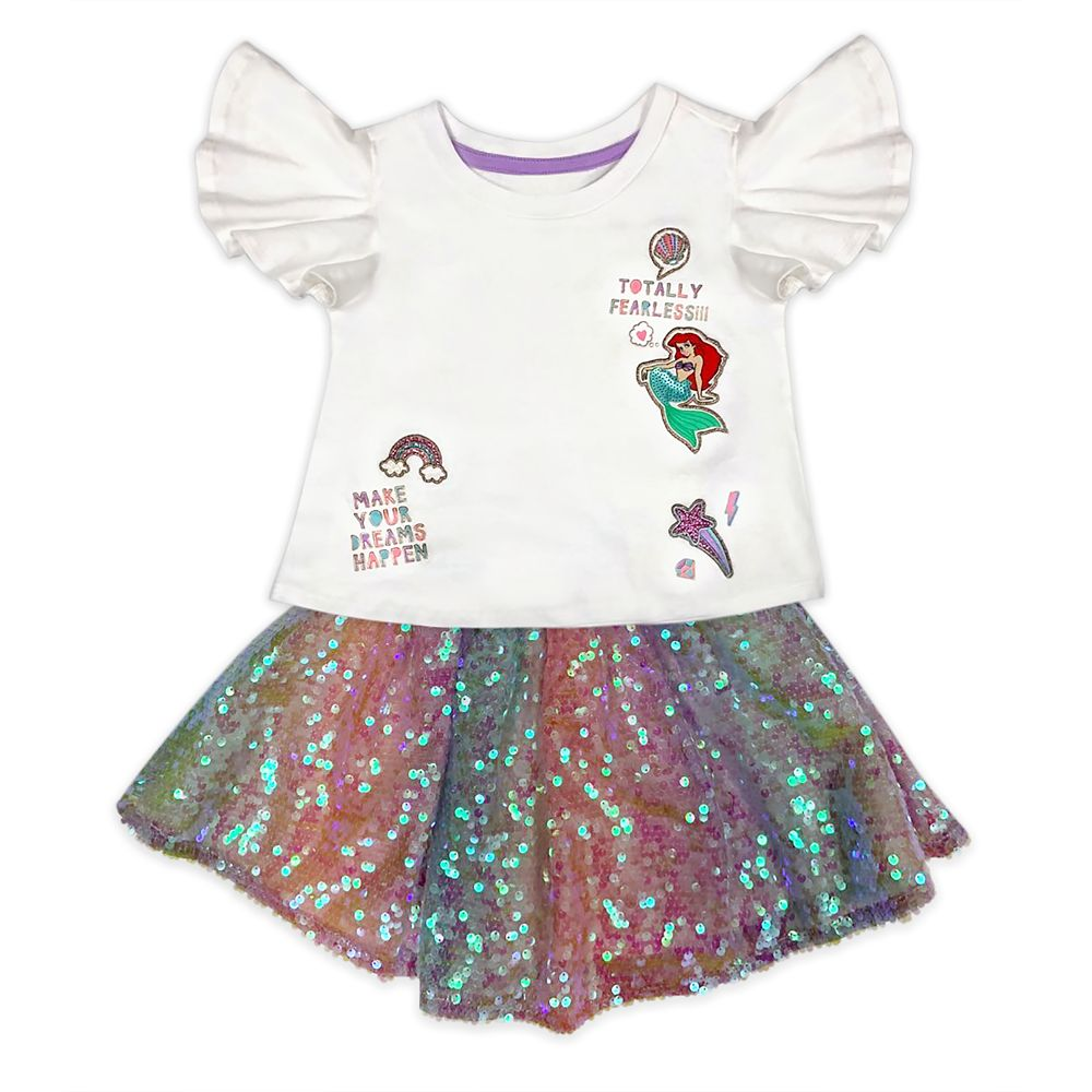 Ariel T-Shirt and Skirt Set for Girls – The Little Mermaid