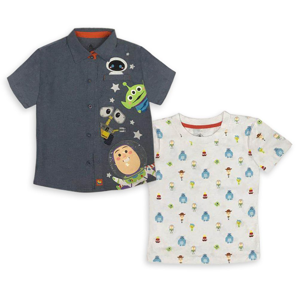 World of Pixar Woven Shirt and T-Shirt Set for Toddlers