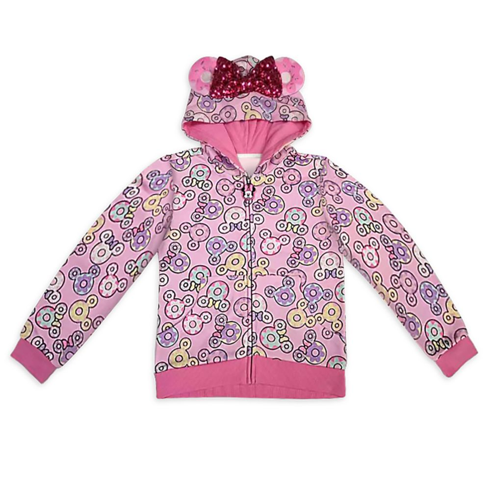 Minnie Mouse Donut Zip-Up Hoodie for Girls