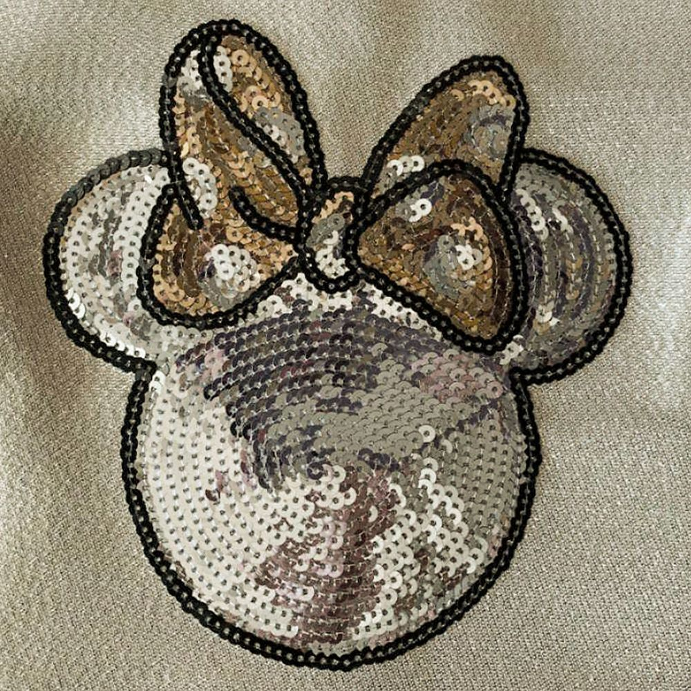 Minnie Mouse Icon Gold Holiday Dress for Girls