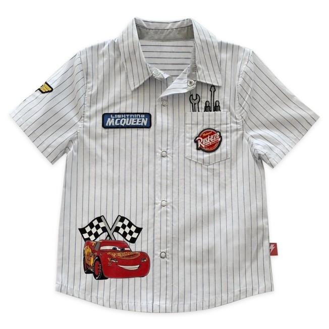 Lightning McQueen Mechanic Shirt for Boys