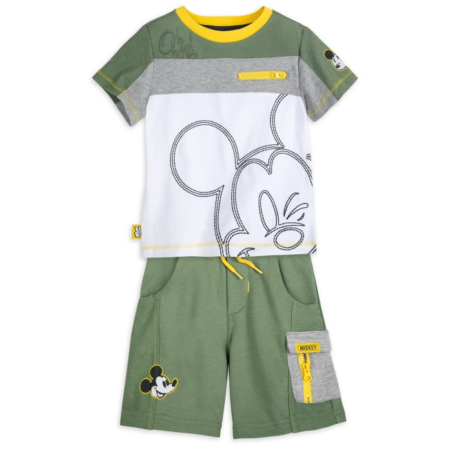 Mickey Mouse T-Shirt and Shorts Set for Boys