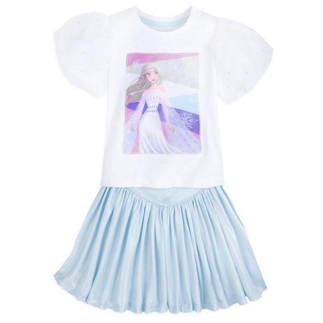 Elsa Top and Skirt Set for Girls – Frozen