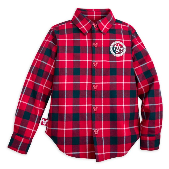 Mickey Mouse Holiday Long Sleeve Plaid Flannel Shirt for Kids – Personalized