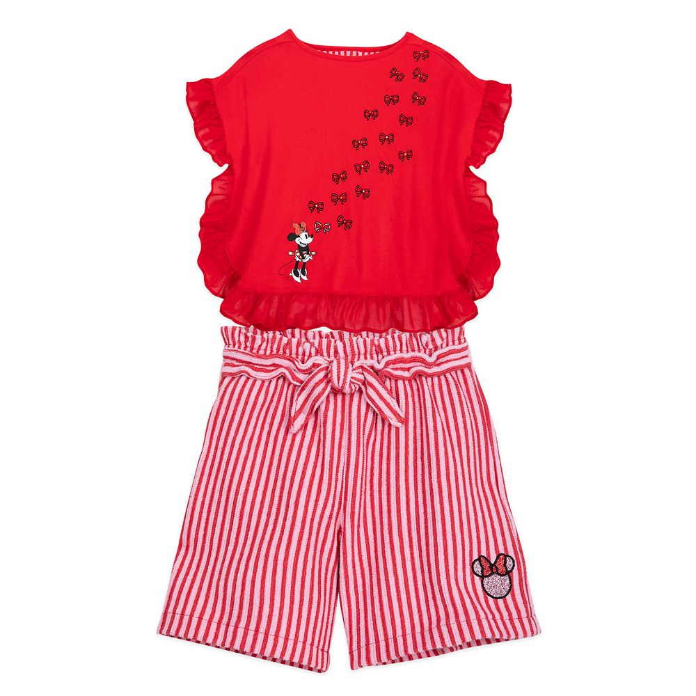 Minnie Mouse Fashion Top and Shorts Set for Girls