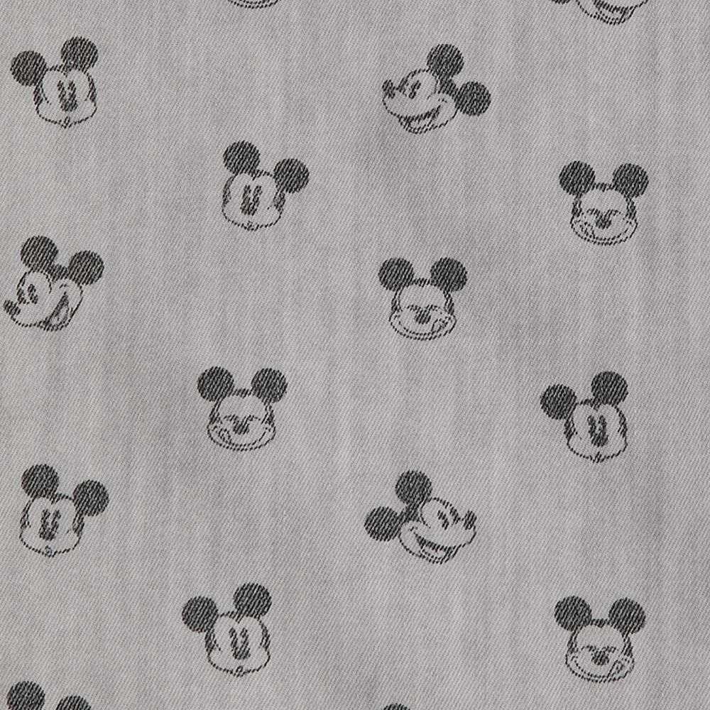 Mickey Mouse Grayscale Woven Shirt for Boys