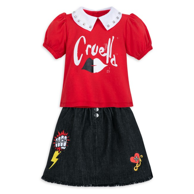 Cruella Skirt and Top Set for Kids – Live Action