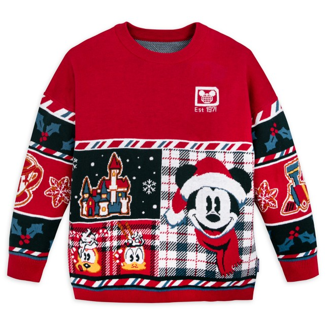 Mickey Mouse and Friends Holiday Sweater by Spirit Jersey for Kids – Walt Disney World