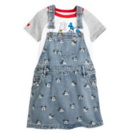 Mickey Mouse and Friends Denim Dress Set for Girls