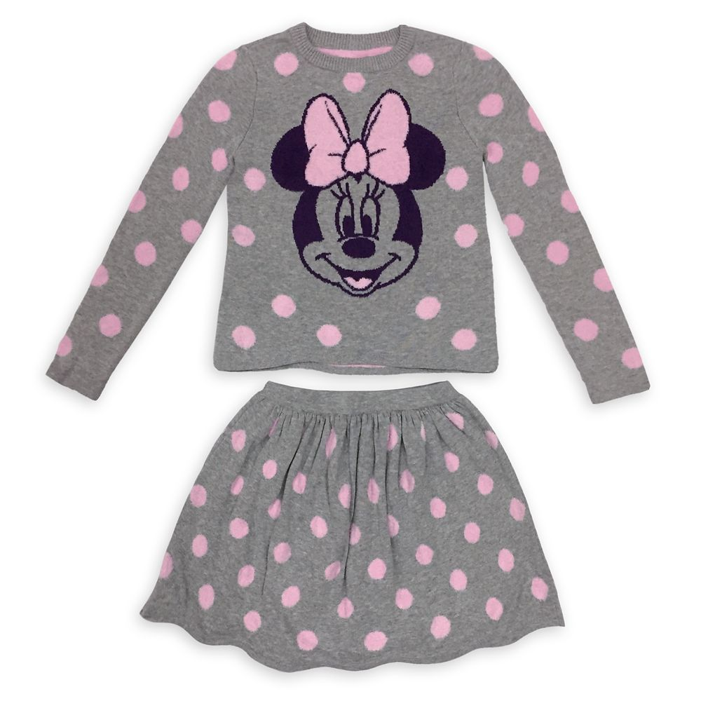 Minnie Mouse Sweater and Skirt Set for Girls