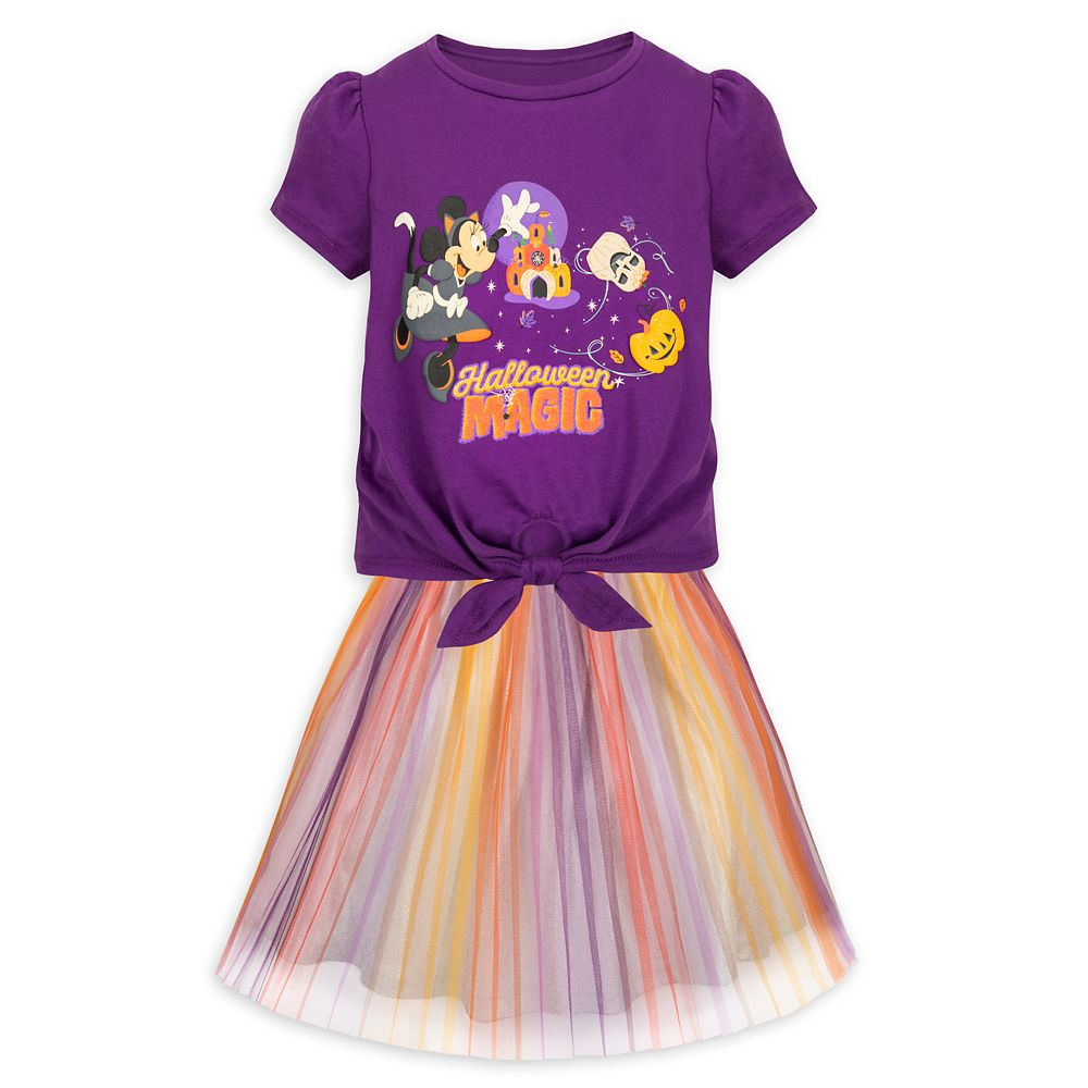 Minnie Mouse Halloween T-Shirt and Skirt Set for Kids