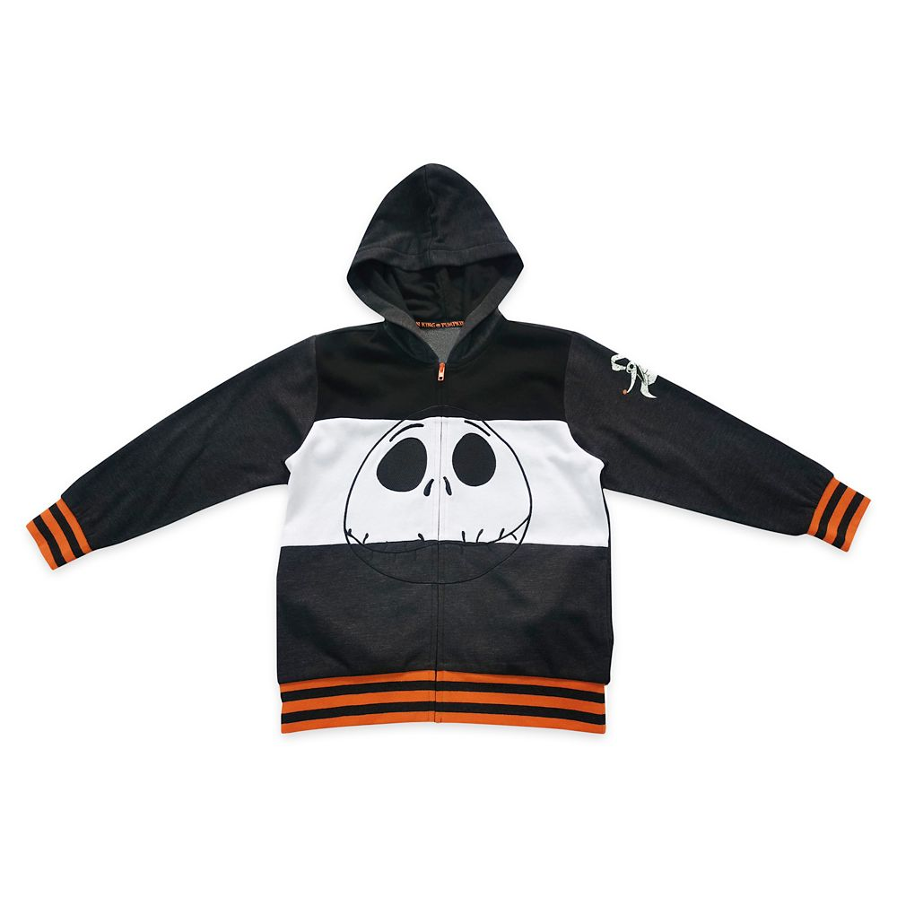 Jack Skellington Zip-Up Hoodie for Boys – The Nightmare Before Christmas
