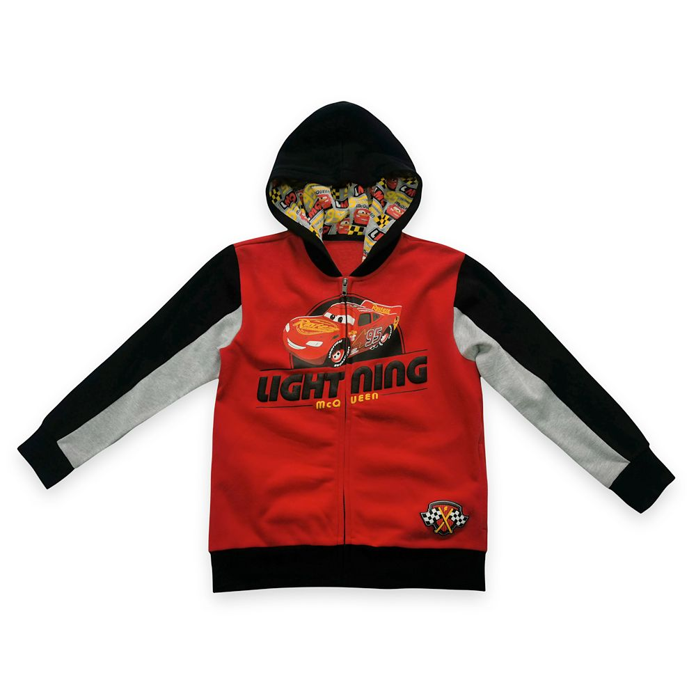 Lightning McQueen Zip-Up Hoodie for Boys – Cars