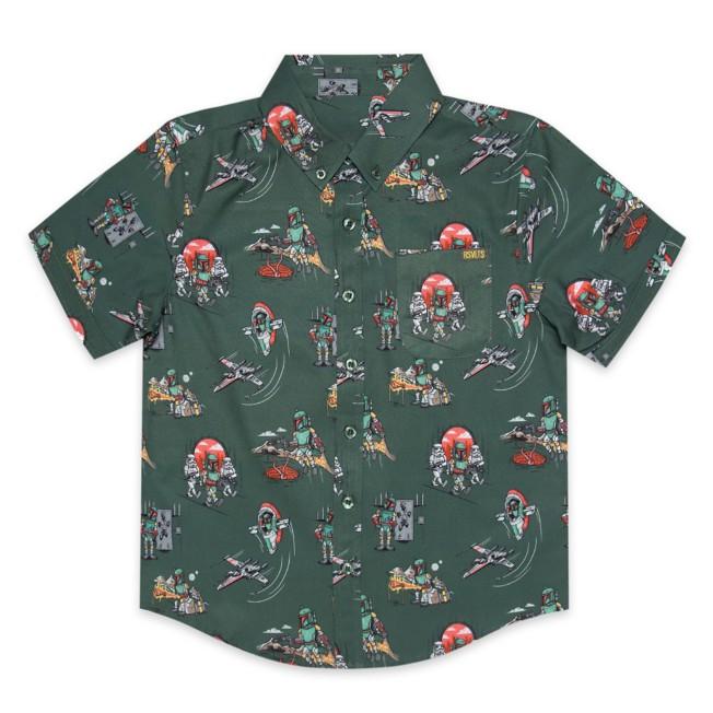 Boba Fett ''A Bounty Day'' RSVLTS Short Sleeve Shirt for Kids with KUNUFLEX  – Star Wars