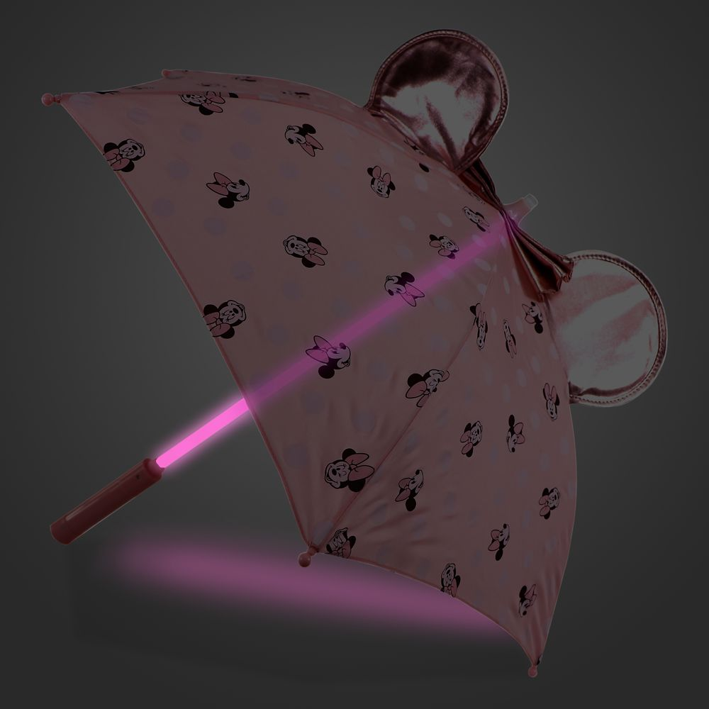 Minnie Mouse Pink Light-Up Umbrella for Kids