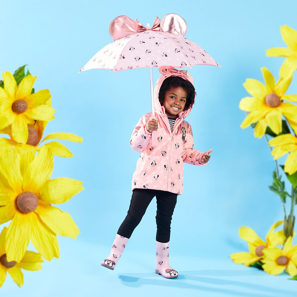 Minnie Mouse Pink Rain Jacket for Kids