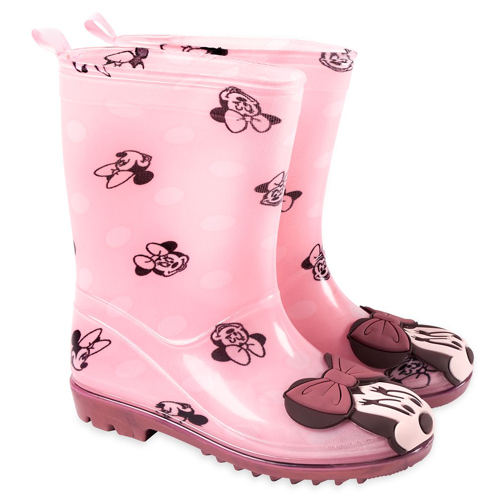 Minnie Mouse Pink Rain Boots for Kids