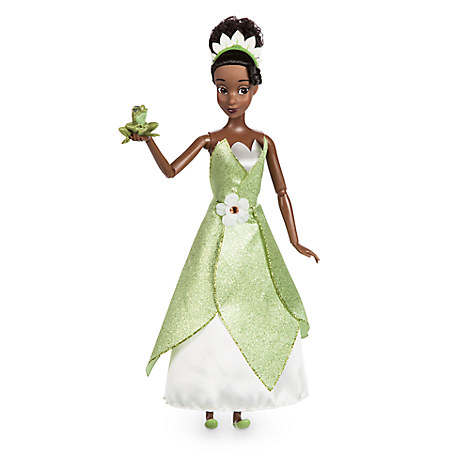 Tiana Classic Doll with Prince Naveen as Frog Figure - 11 1/2''