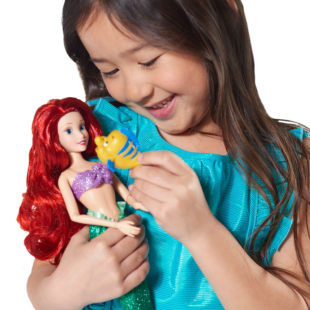 Ariel Classic Doll with Flounder Figure – 12''