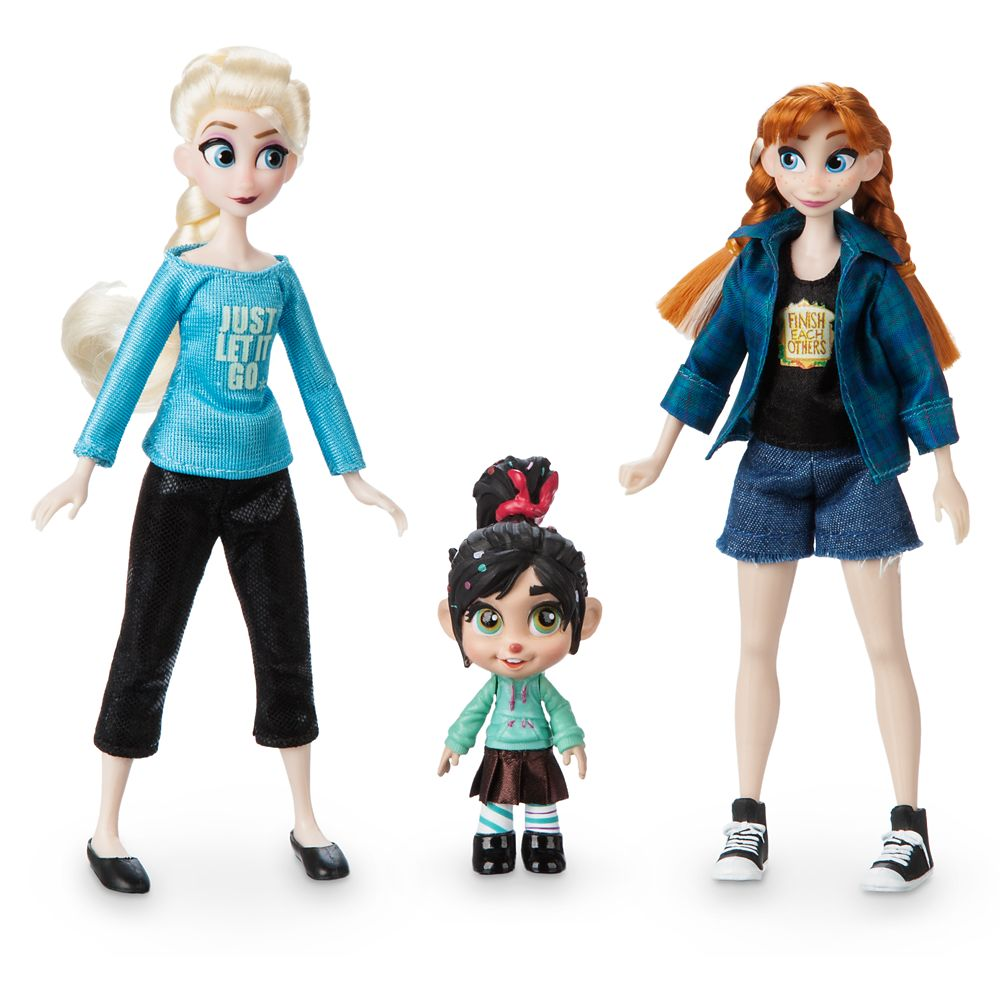 Vanellope with Anna and Elsa Mini Doll Set – Ralph Breaks the Internet