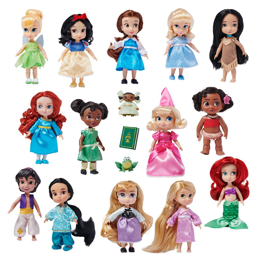 "11 Authentic Disney Princess 6"" DOLLS COLLECTOR SET Soft Plush Shimmering Dreams"