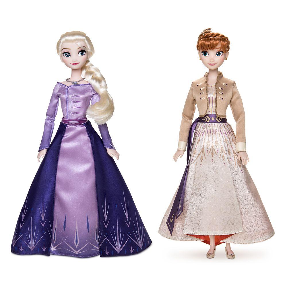 Disney Princess Elsa /& Anna Frozen Infants Babies New on Card 2 Pin Set