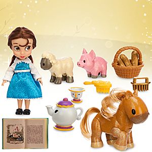Disney Animators' Collection Belle Mini Doll Play Set - 5''