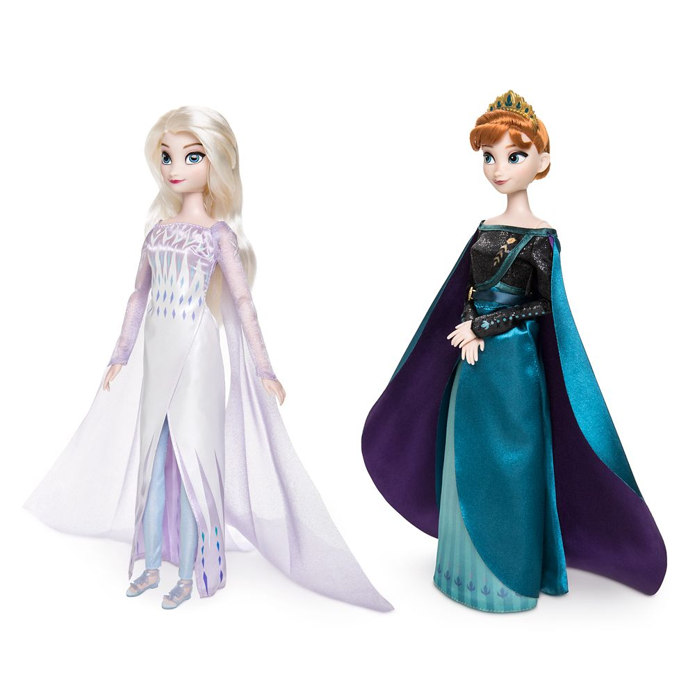 Queen Anna and Snow Queen Elsa Classic Doll Set – Frozen 2 –  11 1/2'' H