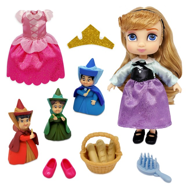 Aurora Disney Animators' Collection Mini Doll Play Set – Sleeping Beauty – 5''