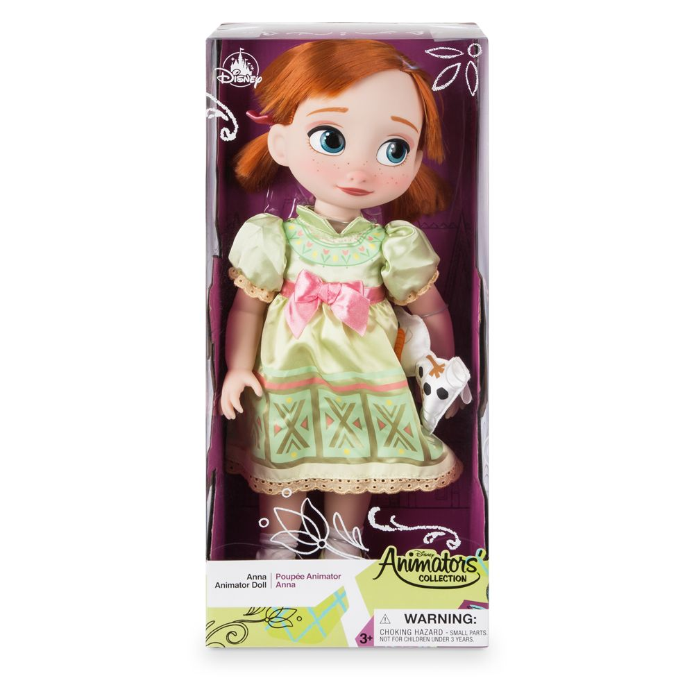 Disney Animators' Collection Anna Doll – Frozen – 16'' – Toys for Tots Donation Item