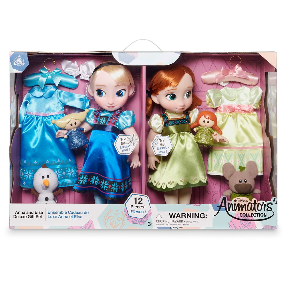 Anna and Elsa Singing Dolls Deluxe Gift Set – Disney Animators' Collection