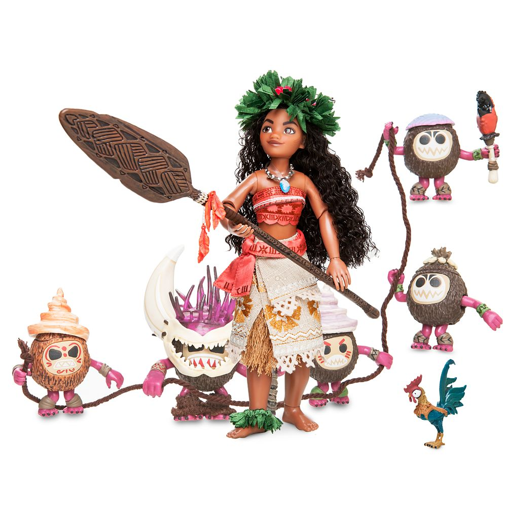 Moana and Hei Hei Doll Set – Disney Designer Fairytale Collection – Limited Edition