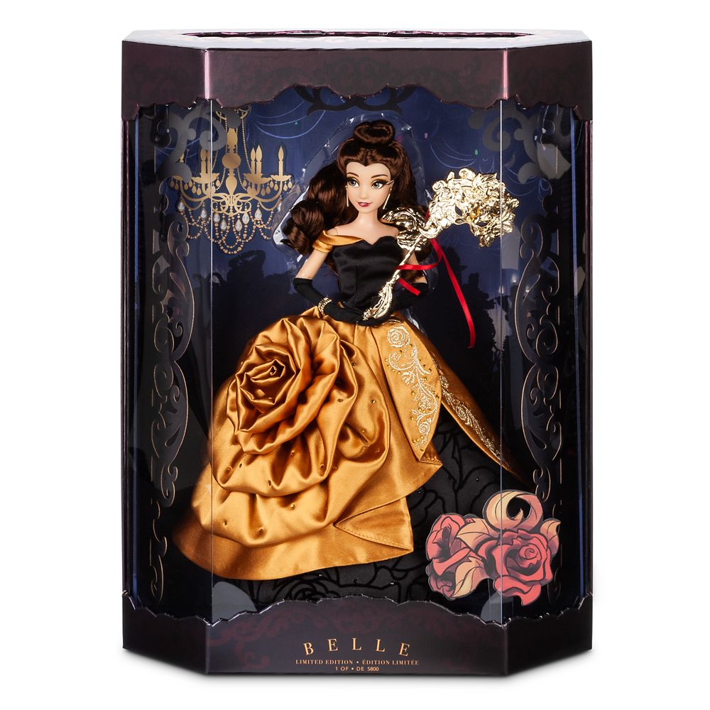 Belle Limited Edition Doll – Disney Designer Collection Midnight Masquerade Series – 12''