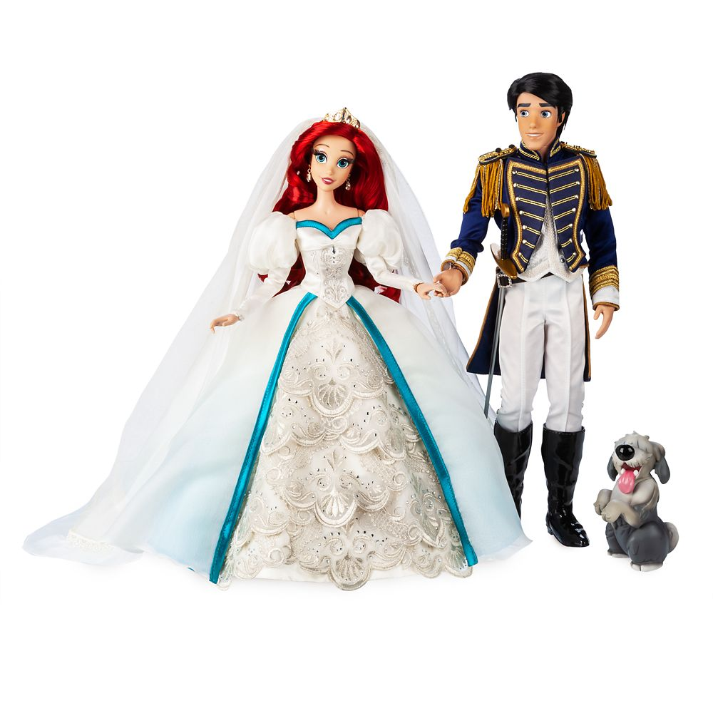 Ariel and Prince Eric Limited Edition Wedding Doll Set – The Little Mermaid 30th Anniversary – 17''