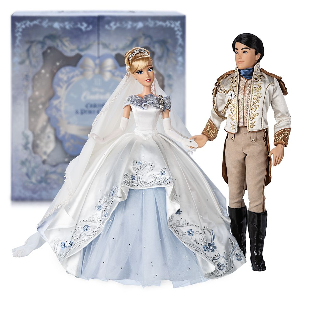 Cinderella and Prince Charming Limited Edition Wedding Doll Set – 70th Anniversary – 17''