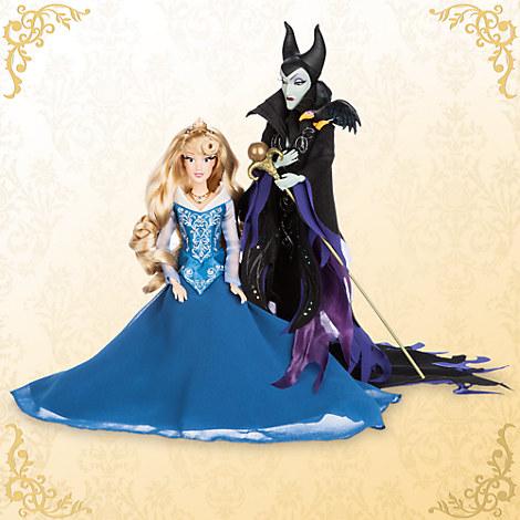 Aurora and Maleficent Doll Set - Sleeping Beauty - Disney Fairytale Designer Collection