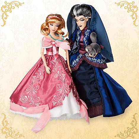 Cinderella and Lady Tremaine Doll Set - Disney Fairytale Designer Collection