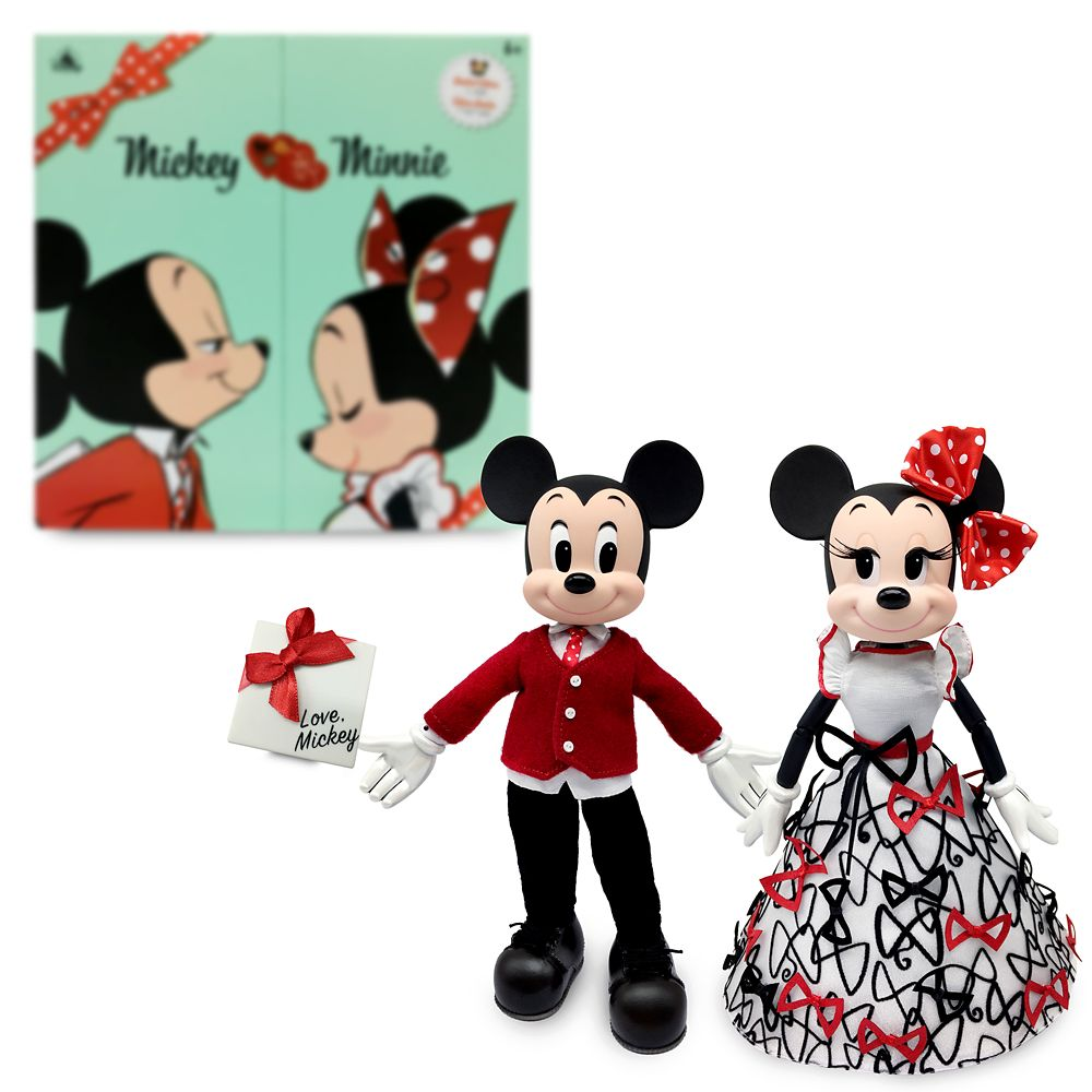 Mickey and Minnie Mouse Limited Edition Sweethearts Doll Set