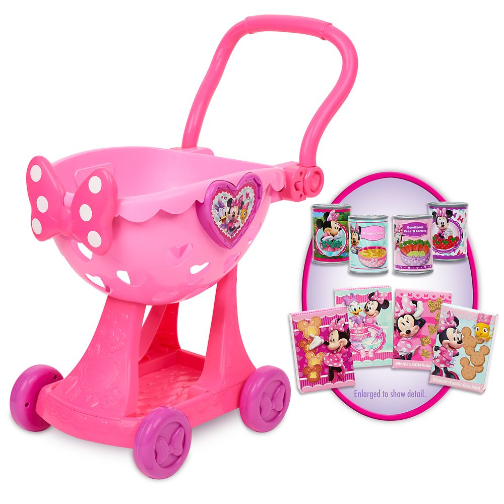Minnie Mouse Bowtique Shopping Cart Play Set