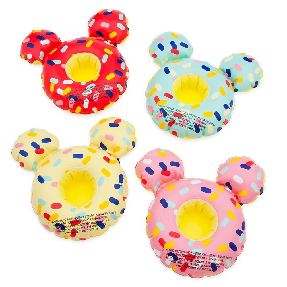 Mickey Mouse Donut Floating Drink Holder Set