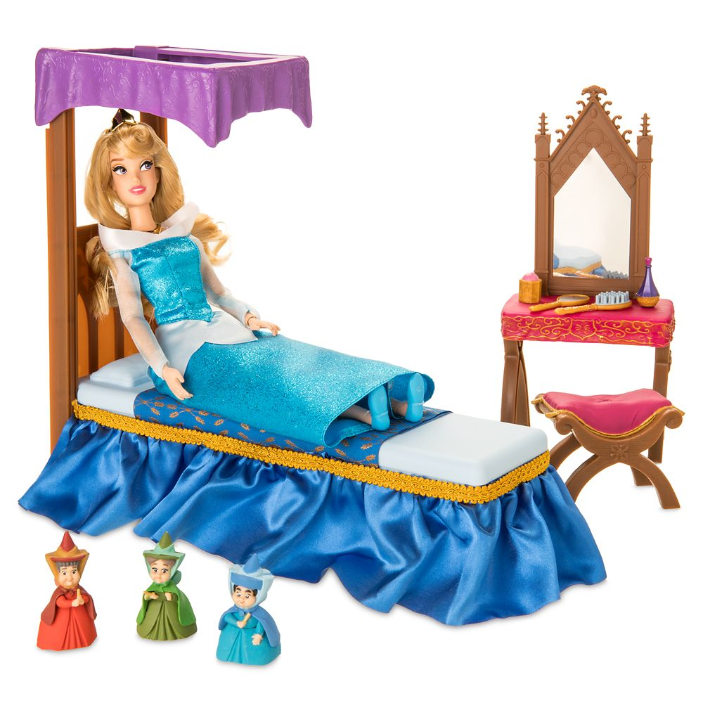 Aurora Classic Doll Bedroom Play Set – Sleeping Beauty