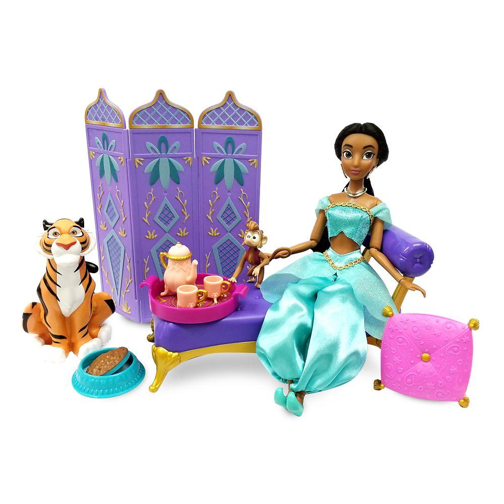 shopdisney.com - Jasmine Classic Doll Palace Lounge Play Set  Aladdin Official shopDisney 34.99 USD