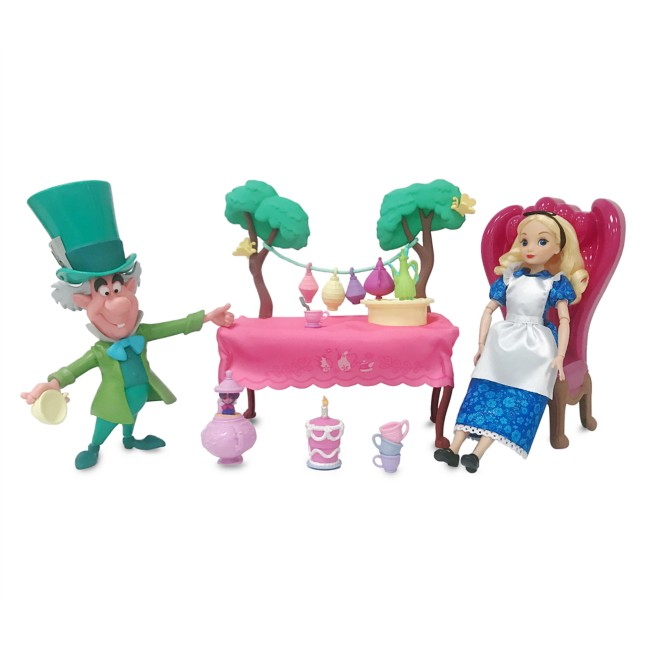 Alice in Wonderland Tea Party Classic Doll Play Set