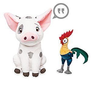Pua and Heihei Talking Plush Set - Disney Moana - Medium - 12
